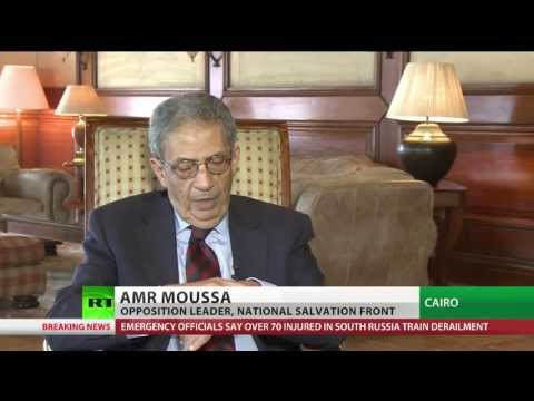 Amr Moussa interview to RT's Bel Trew, question 2