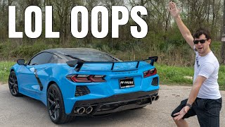 homepage tile video photo for My C8 Corvette gets LOUD! NEW CORSA XTREME TRACK EXHAUST