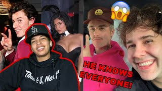 David Dobrik Funniest Celebrity Moments! (REACTION)