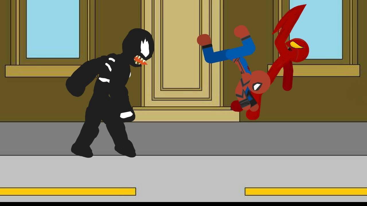 Человек паук против венома и карнажа рисуем мультфильмы ...
