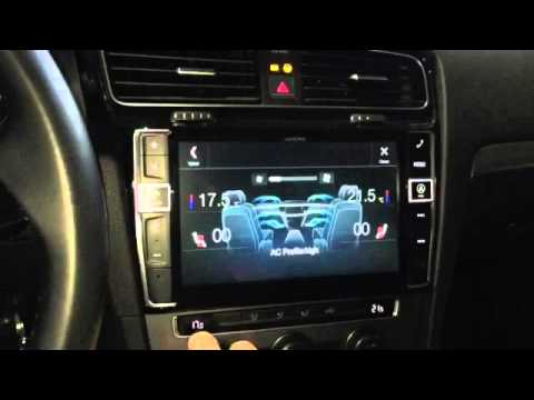 sistema multimedia alpine x901d g7 vw golf vii parte 2
