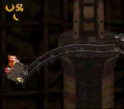 Donkey Kong Country - Mine Cart Carnage Playthrough