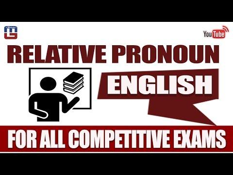 RELATIVE PRONOUN | ENGLISH | FOR ALL COMPETITIVE EXAMS
