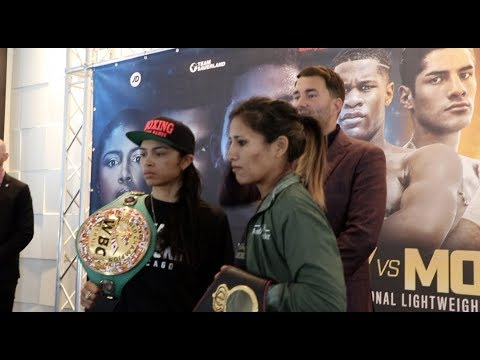 UNIFICATION CLASH! - JESSICA McCASKILL v ANAHI SANCHEZ (OFFICIAL) HEAD-TO-HEAD @ PRESS CONFERENCE