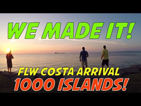 FLW Costa Series Bass Tournament On The St Lawrence River 1000 Islands Clayton, NY First Day