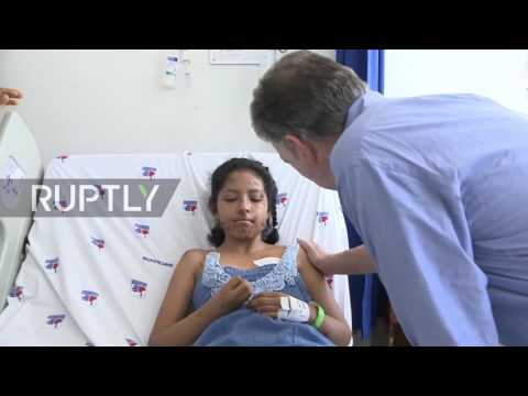 Colombia: President Santos visits mudslide victims at Mocoa hospital