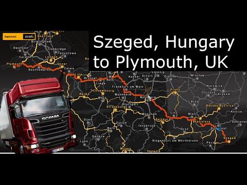 Euro Truck Simulator 2 - Szeged, Hungary to Plymouth, United Kingdom