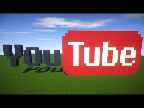 видео: Майнкрафт урок: Как построить youtube ЗНАЧЁК | Как сделать ютуб логотип