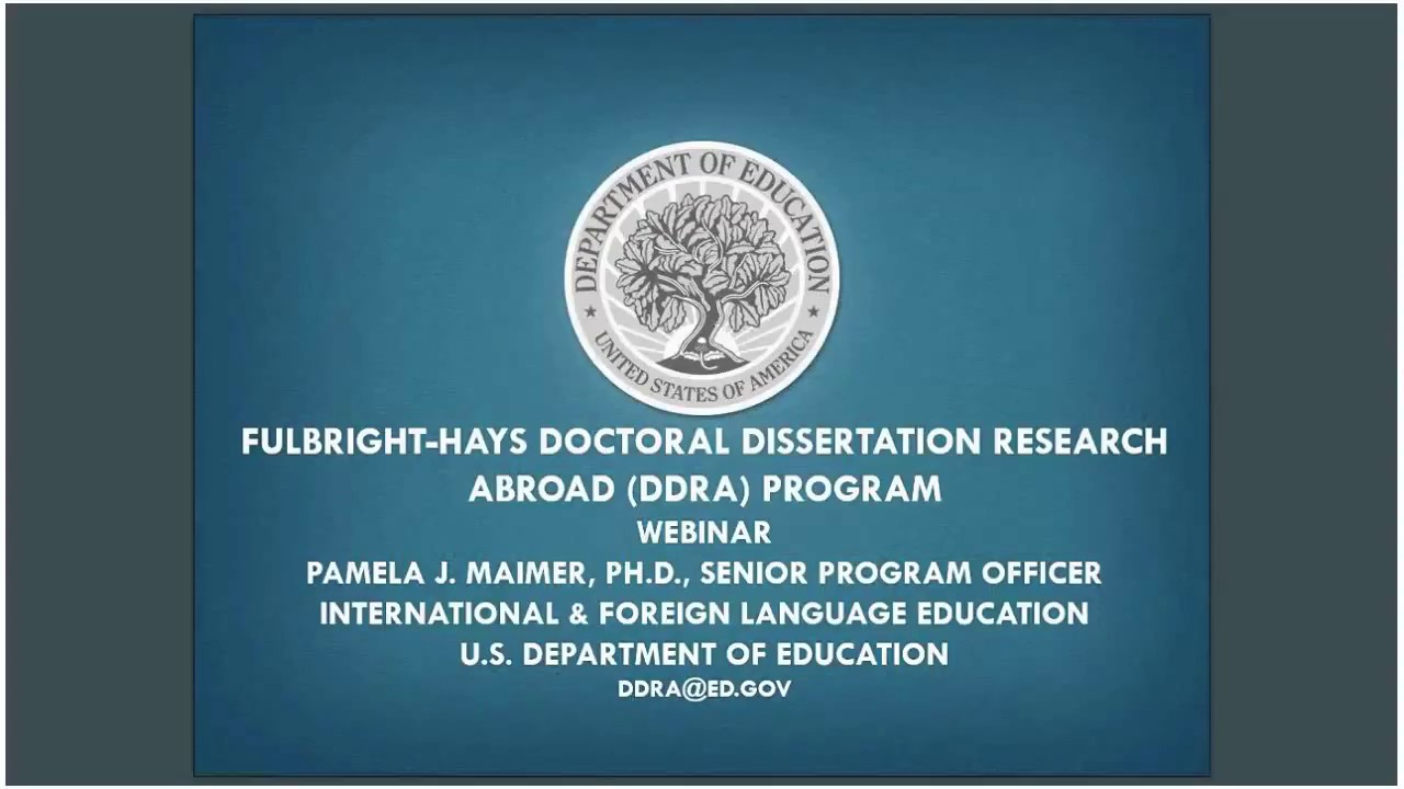 fulbright-hays doctoral dissertation research abroad ddra