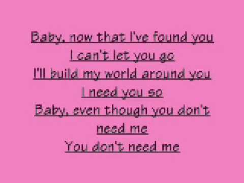 The Foundations- Baby, now that I found you (Lyrics)