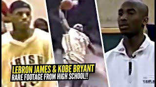 RARE Footage of  Kobe Bryant & LeBron James In High School! Kobe Gives a Speech To His Class ??