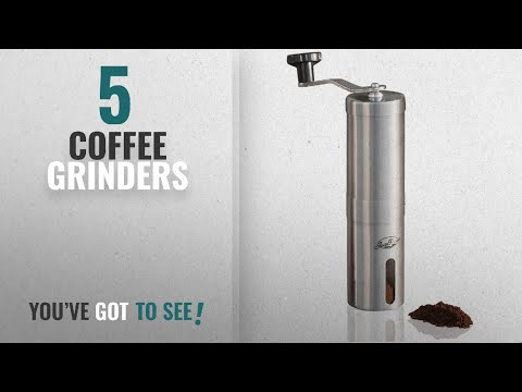 Top 10 Coffee Grinders [2018]: JavaPresse Manual Coffee Grinder, Conical Burr Mill, Brushed