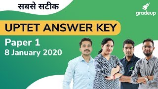 🔴 UPTET Answer Key 2019 | Paper 1 | All Subjects in Hindi | Gradeup