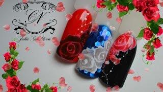Розы по мокрому 2. Лайфхак для их исполнения.