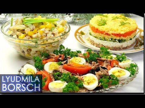 Как приготовить салат из консервированного тунца видео