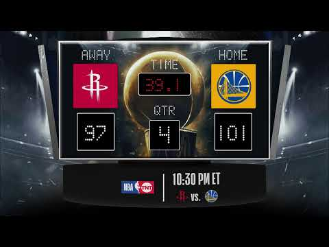 Rockets @ Warriors LIVE Scoreboard - Join The Conversation & Catch All The Action On #NBAonTNT!