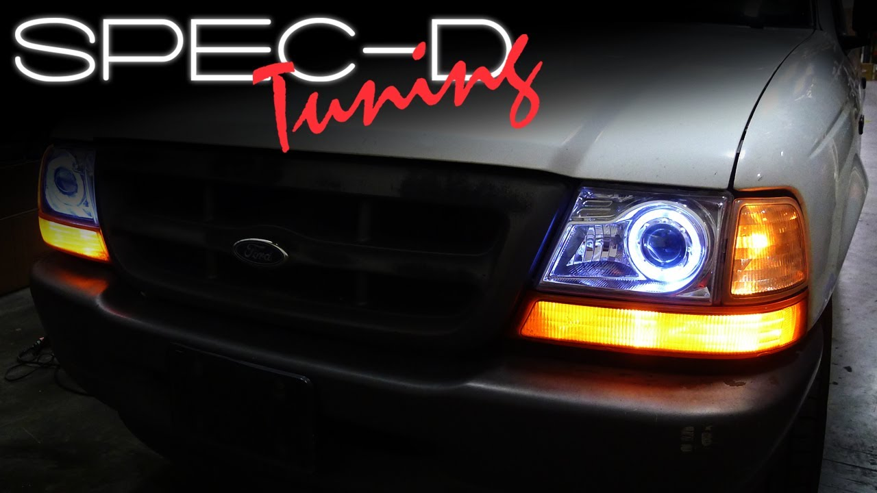 specdtuning installation video 1998 2000 ford ranger projector headlights [ 1280 x 720 Pixel ]
