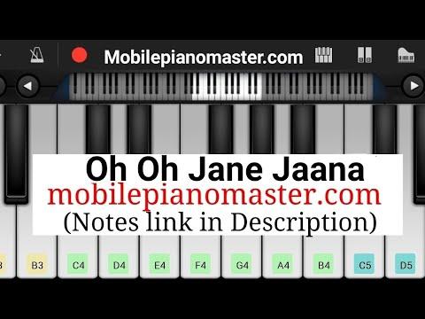 Oh Oh Jane Jana Piano Tutorial|Piano Keyboard|Piano Lessons|Piano Music|learn piano Online|Piano