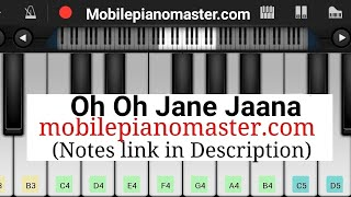 Oh Oh Jane Jana Piano Tutorial|Piano Keyboard|Piano Lessons|Piano Music|learn piano Online|Piano