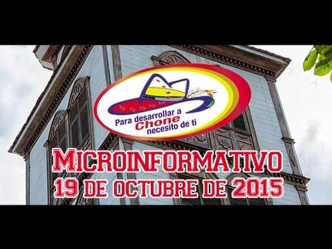 Microinformativo 19 octubre 2015