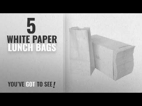 Best White Paper Lunch Bags [2018]: Paper Lunch Bags, Paper Grocery Bags,, Durable Kraft Paper Bags,