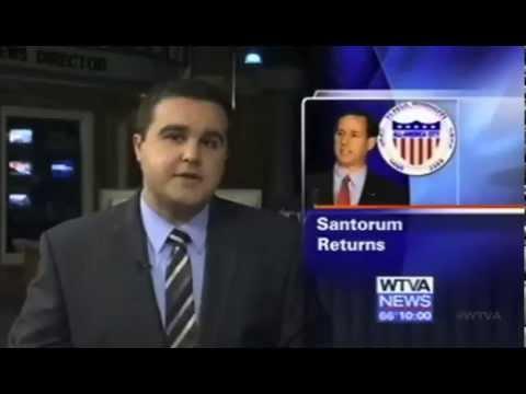 2012 Presidential Candidate Rick Santorum Campaign Stop