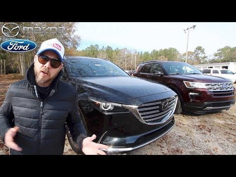 NEW 2018 Mazda CX9 GT vs 2018 FORD Explorer XLT In Depth Review