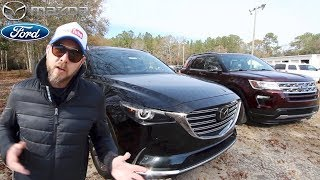 NEW 2018 Mazda CX9 GT vs 2018 FORD Explorer XLT | In Depth Review