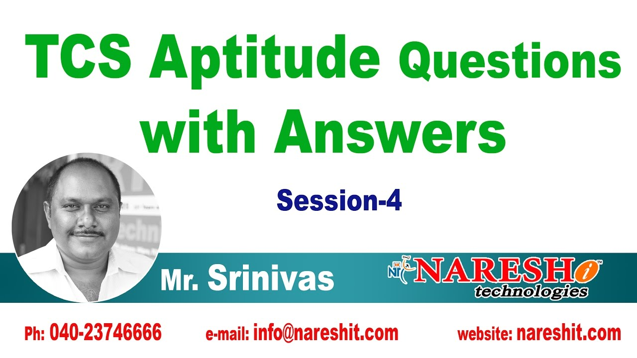 TCS Aptitude Questions with Answers Session - 4 | CRT Training