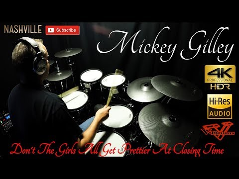 Mickey Gilley - Don't the Girls all get prettier at closing time - Drum cover (4K)