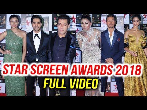 Star Screen Awards 2018 Full HD Video | Salman, Varun, Tiger, Madhuri, Uvashi | Red Carpet