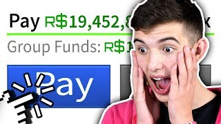 GIVING A FAN 100k FREE ROBUX!!! (Roblox Groups)