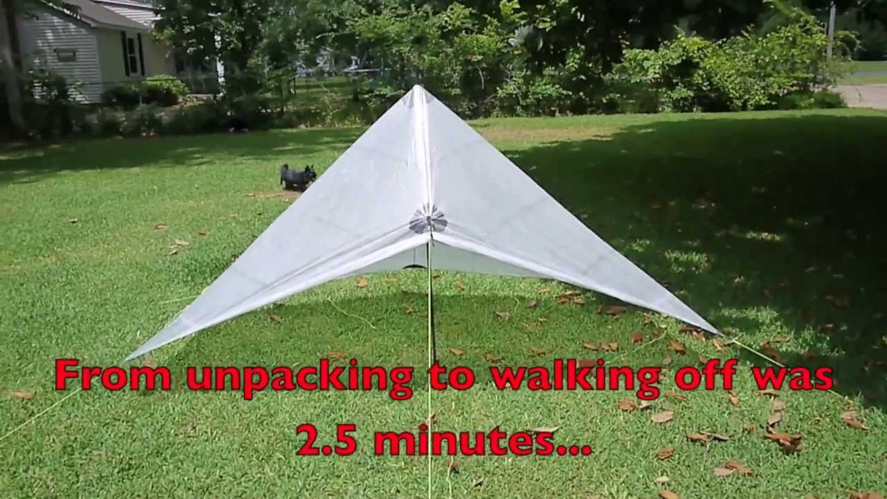 & Setting up the ZPacks Hexamid Solo Plus Tarp - YouTube