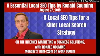 8 Essential Local SEO Tips by Ronald Couming, August 27th, 2018