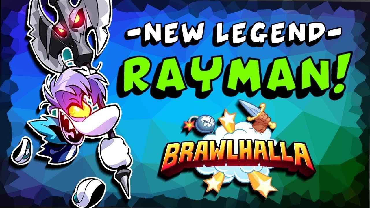 ▻NEW LEGEND◅ Rayman Invades Brawlhalla!! + NEW Podium, Sidekick