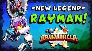 ►NEW LEGEND◄ Rayman Invades Brawlhalla!! + NEW Podium, Sidekick, KO Effect + MORE!!