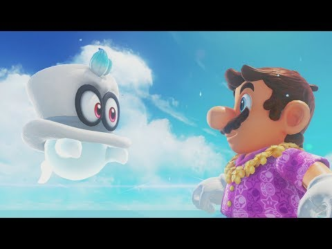 Super Mario Odyssey Walkthrough Part 8 - Seaside Kingdom (Nintendo Switch)