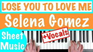 How to play LOSE YOU TO LOVE ME - Selena Gomez | Piano Chords Tutorial