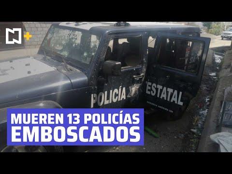 Mueren 13 policías emboscados en Edomex