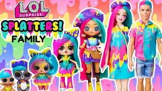 LOL Surprise DIY Famliy SPLATTERS Fun Craft With Barbie and Ken LOL Families Cupcake Squad