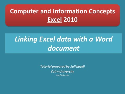 Linking Excel data with Word to create up-to-date reports from the Excel file