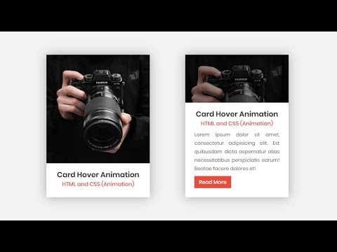 Image Card Hover Animation In HTML CSS & JavaScript | Profile Card UI Design