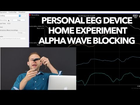 Personal EEG Device Home Experiment Alpha Wave Blocking