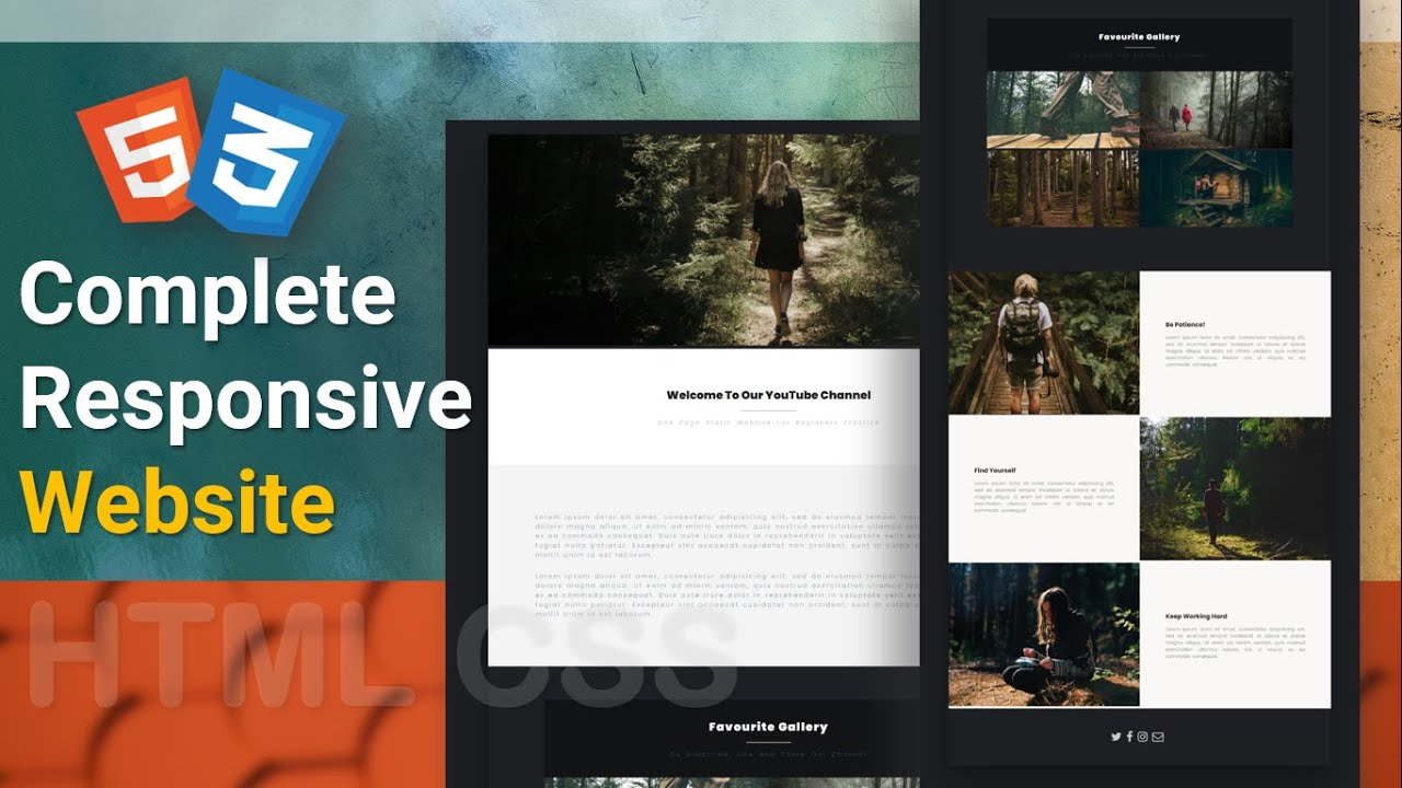 Complete Responsive Website Step By Step Using HTML And CSS