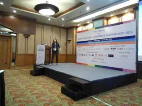 Ms. Jessie Han The Forum on Supply Chain Risk + Compliance Management 2016, Mumbai 9 Sept. 2016