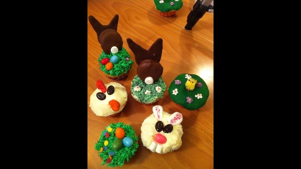 cupcakes dekorieren f r ostern youtube. Black Bedroom Furniture Sets. Home Design Ideas