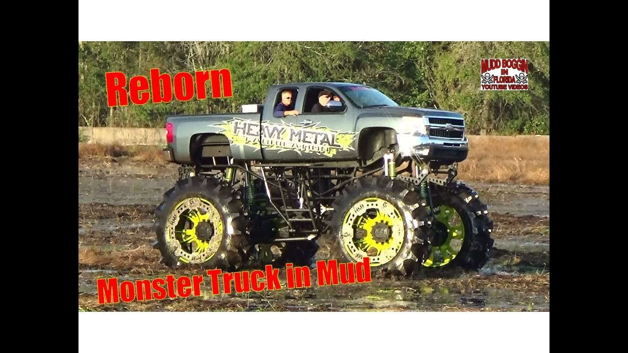 """Truck Mud Tires >> Heavy Metal """"Monster Truck in Mud"""" Brand New Build at the Mud Bog - YouTube"""