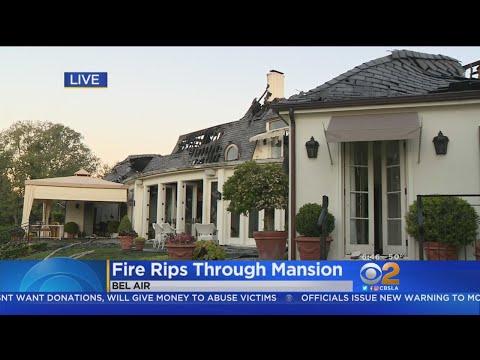 Sunrise Reveals Damage To $18M Bel Air Mansion After Fire