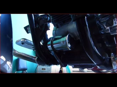 How To Change The Oil on a 1100 V Star With an Oil Filter Relocation Kit