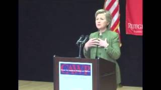 Hillary Clinton at Center for American Women and Politics (Rutgers University)